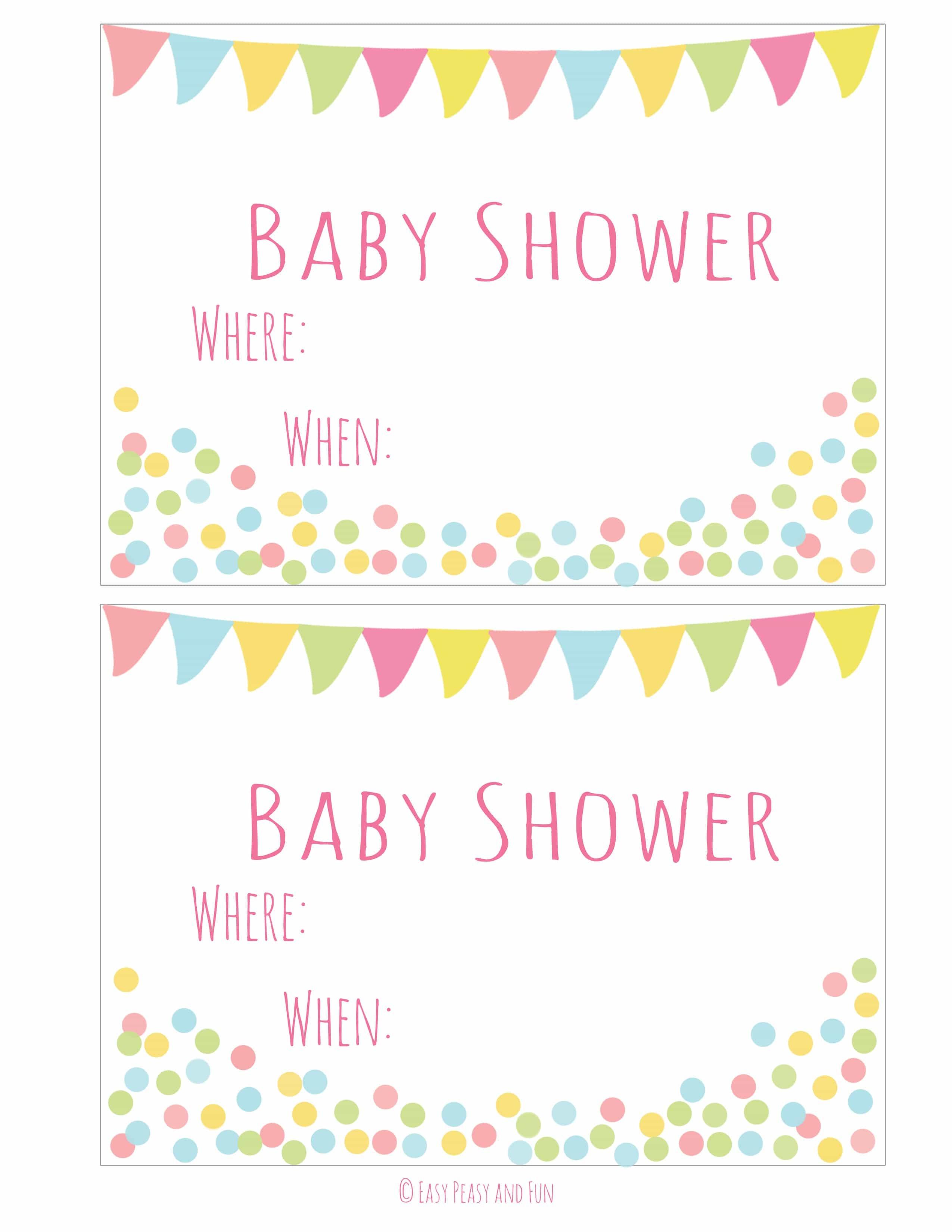 Free Printable Baby Sprinkle Invitations – Baby Shower Ideas - Free Printable Baby Sprinkle Invitations