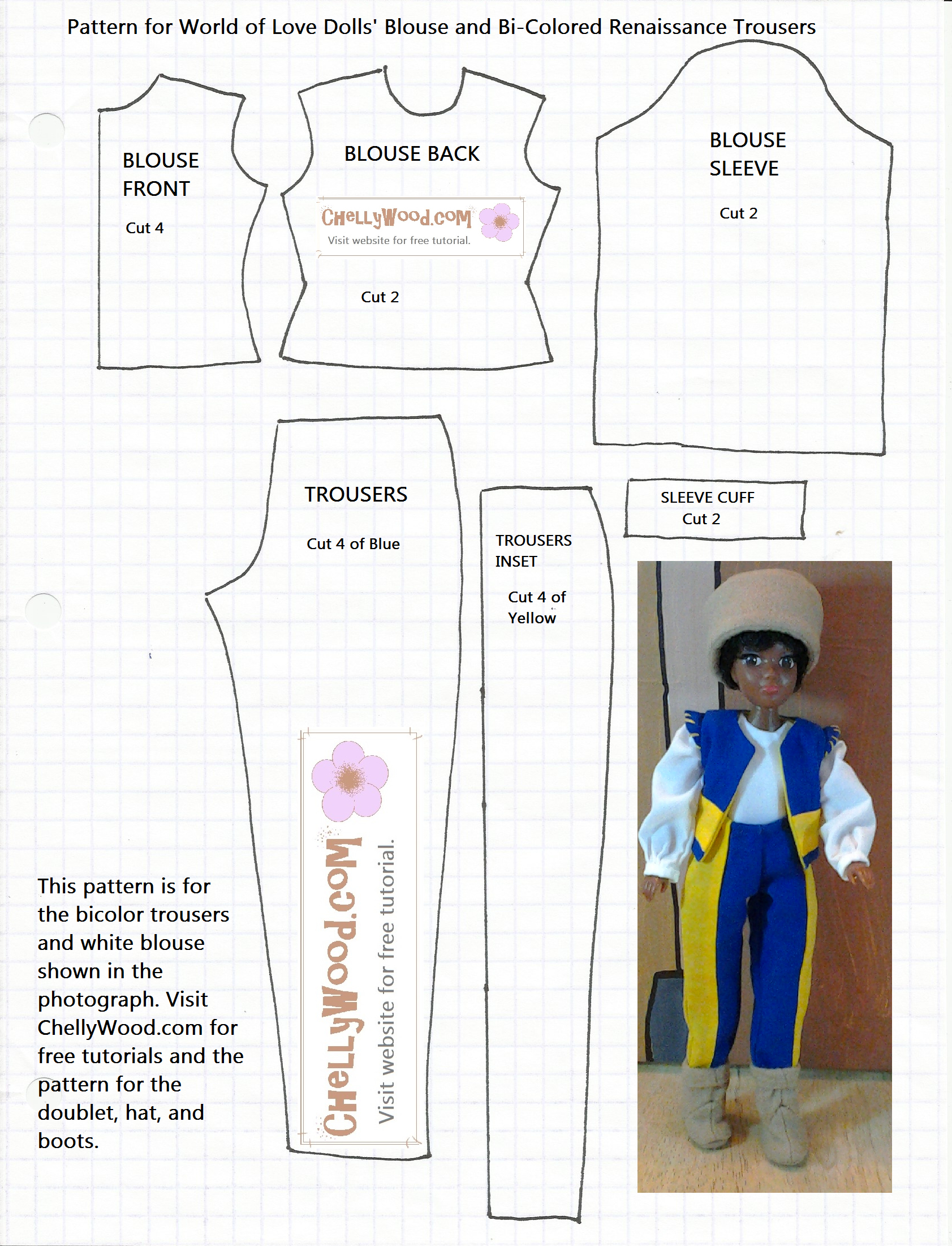 Free Printable Barbie Doll Clothes Patterns – Free, Printable Doll - Easy Barbie Clothes Patterns Free Printable