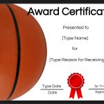 Free Printable Basketball Certificates | Customize Online   Sports Certificate Templates Free Printable