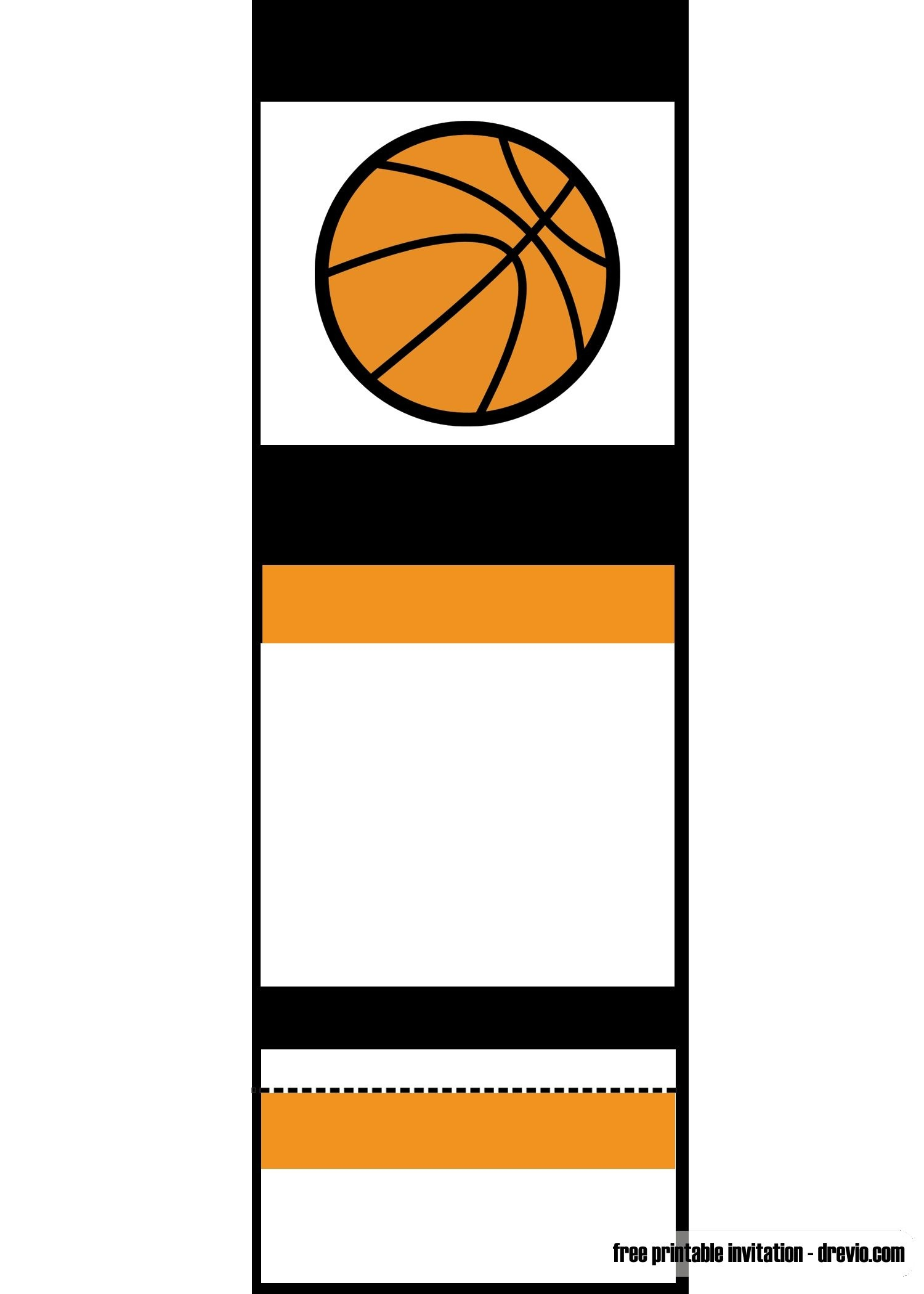 Free Printable Basketball Ticket Invitation | Unc Vs Gonzaga - Free Printable Ticket Invitations