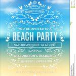Free Printable Beach Party Invitations | Jj Backbaydunes Birthday   Pool Party Flyers Free Printable
