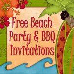 Free Printable Beach Party, Luau And Bbq Invitations Templates   Hawaiian Party Invitations Free Printable