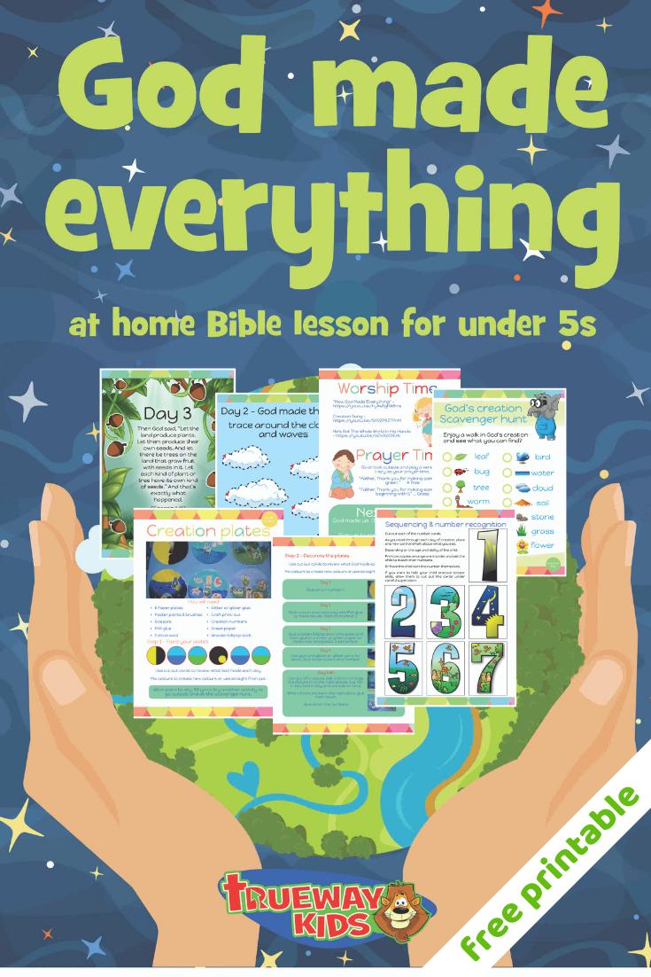 Free Printable Bible Lesson Teaching The Story Of Creation From - Free Printable Bible Study Lessons Genesis