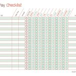 Free Printable Bill Pay Calendar Templates   Free Printable Bill Tracker