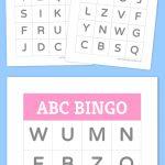 Free Printable Bingo Cards | Bingo Cards | Preschool Learning, Abc   Free Printable Alphabet Bingo Cards
