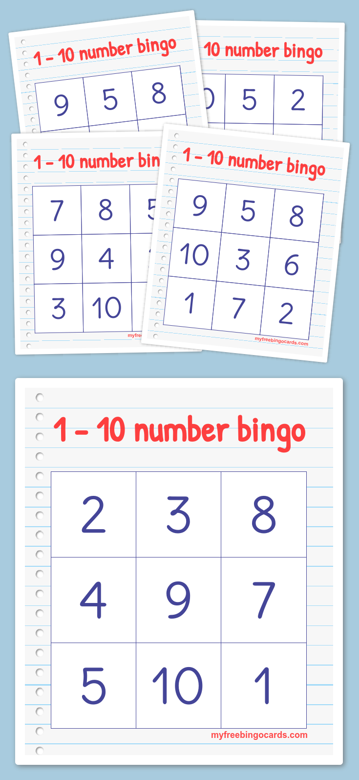 Free Printable Bingo Cards | Math | Kindergarten Math, Preschool - Free Printable Bingo Cards With Numbers