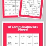 Free Printable Bingo Cards   The 10 Commandments   Sunday School   Free Printable Bible Bingo For Preschoolers