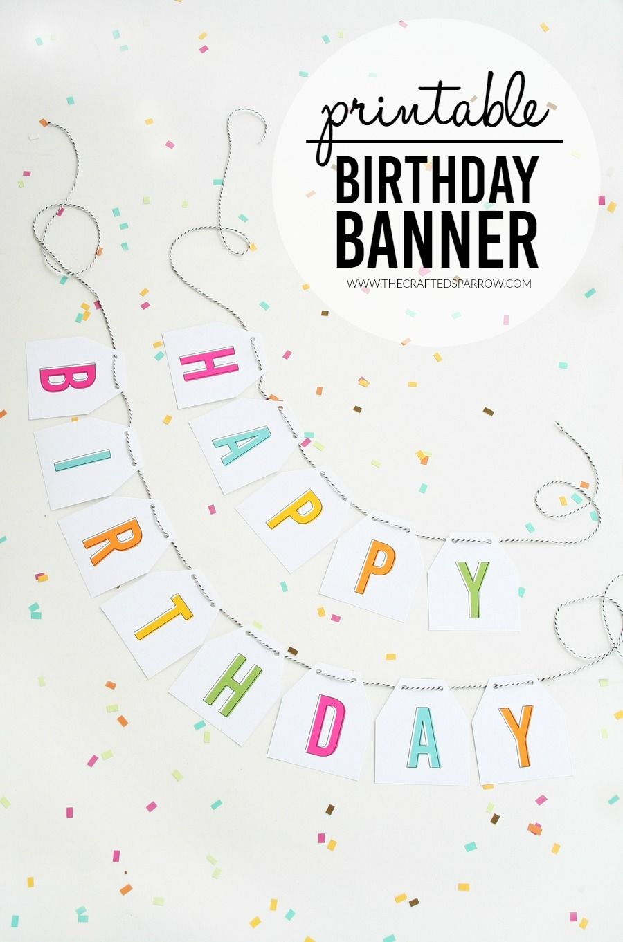 Free Printable Birthday Banner | Parties & Celebrations | Printable - Free Printable Birthday Banner