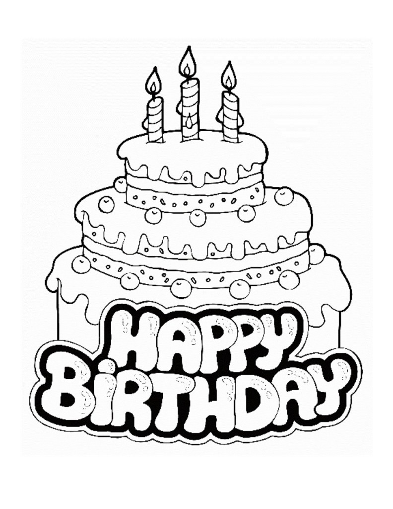 Free Printable Birthday Cake Coloring Pages For Kids #7058 Cake - Free Printable Birthday Cake