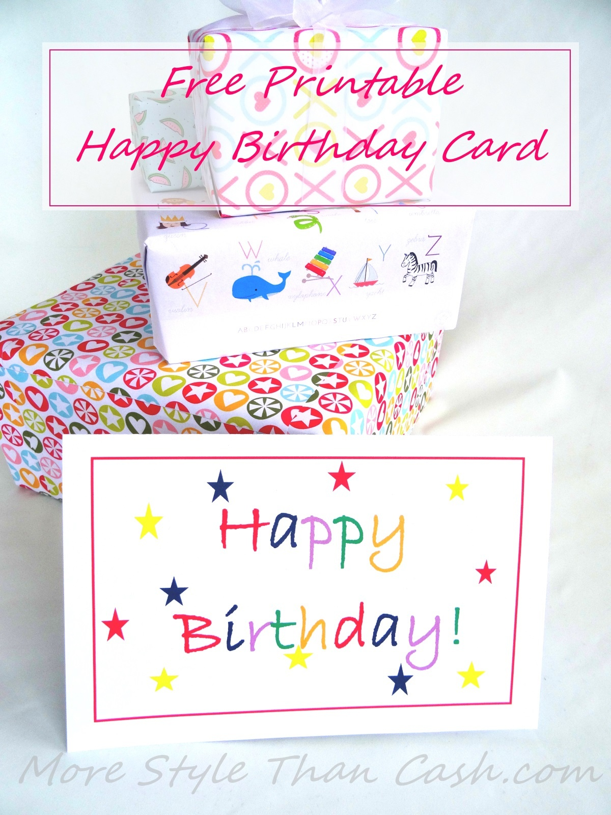 Free Printable Birthday Card - Free Printable Picture Cards