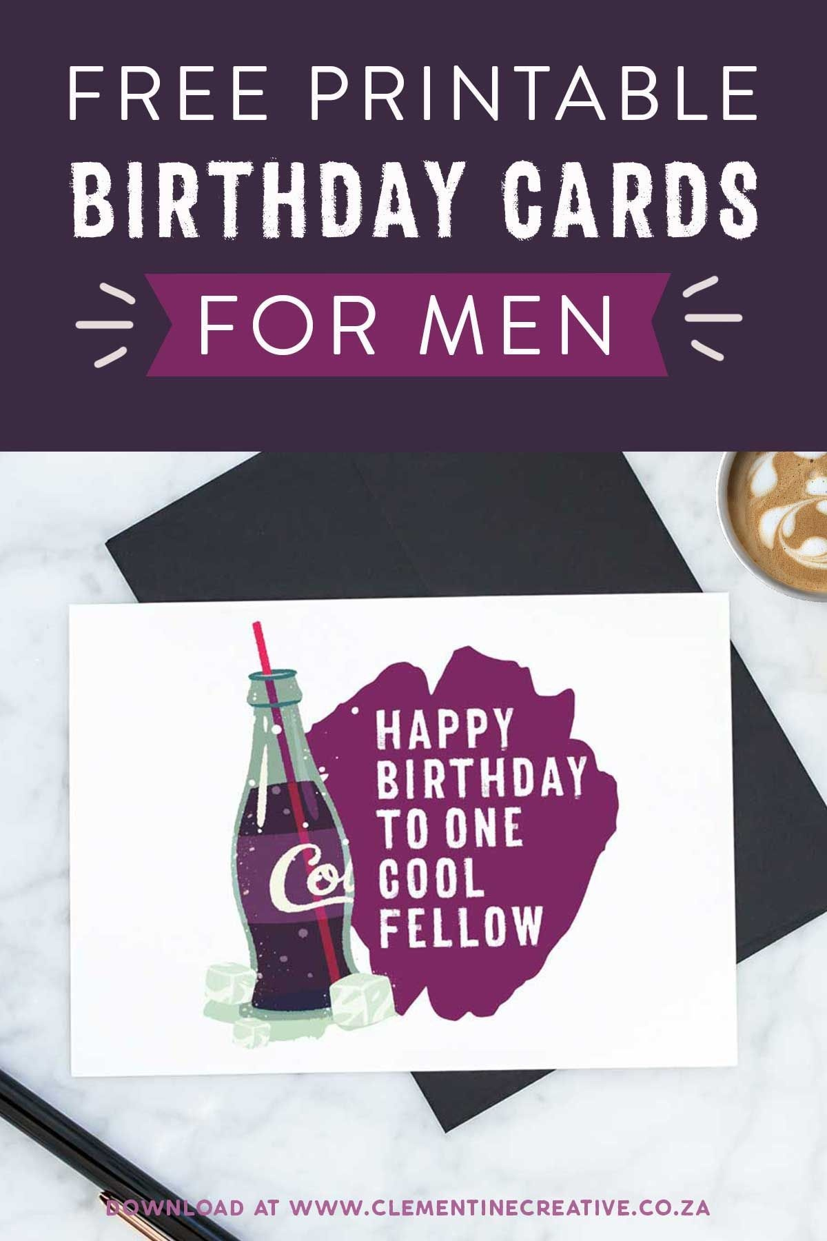 Free Printable Birthday Cards For Him | Printables, Invitations - Free Printable Birthday Cards For Him