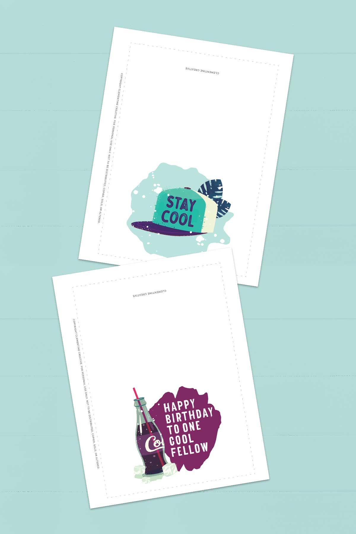 Free Printable Birthday Cards For Him | Stay Cool - Free Printable Birthday Cards For Him