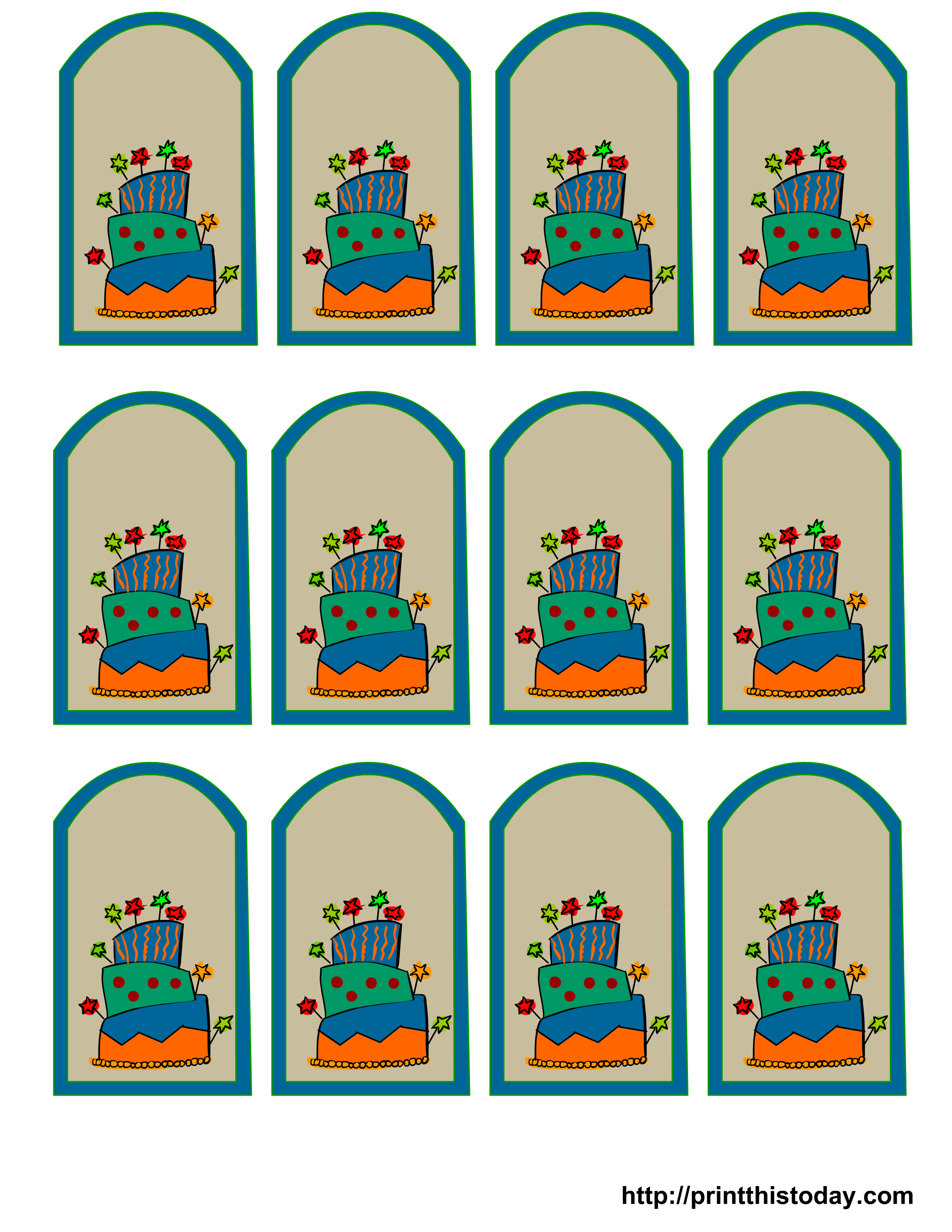 Free Printable Birthday Favor Tags - Birthday Party Favor Tags Printable Free