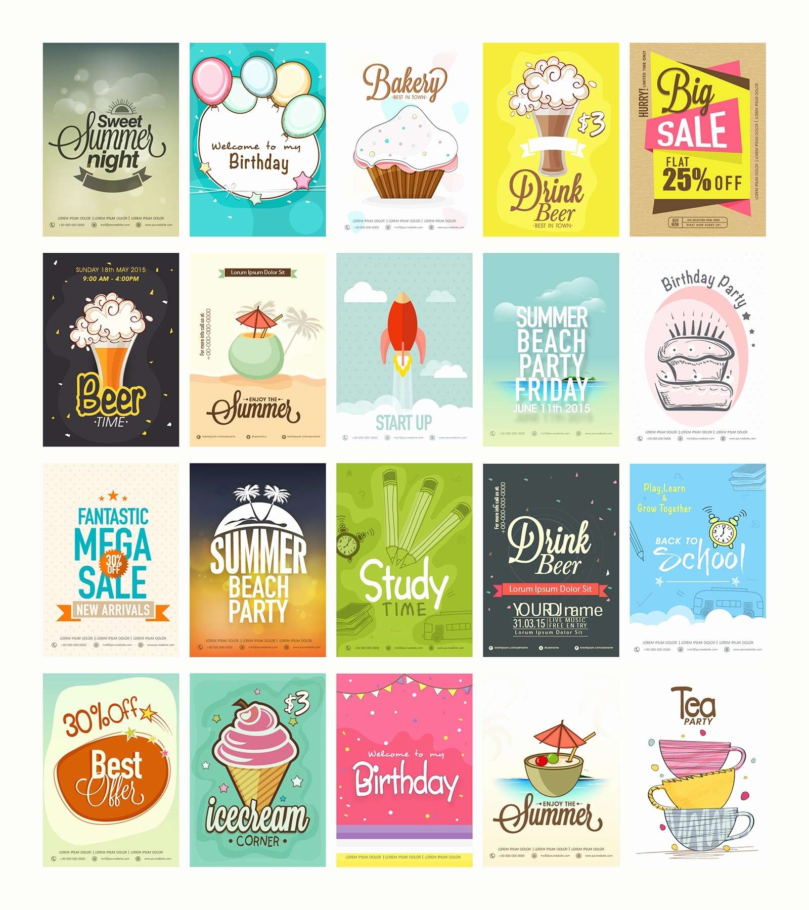 Free Printable Birthday Flyers Beautiful 20 Free Printable Flyers - Free Printable Flyers