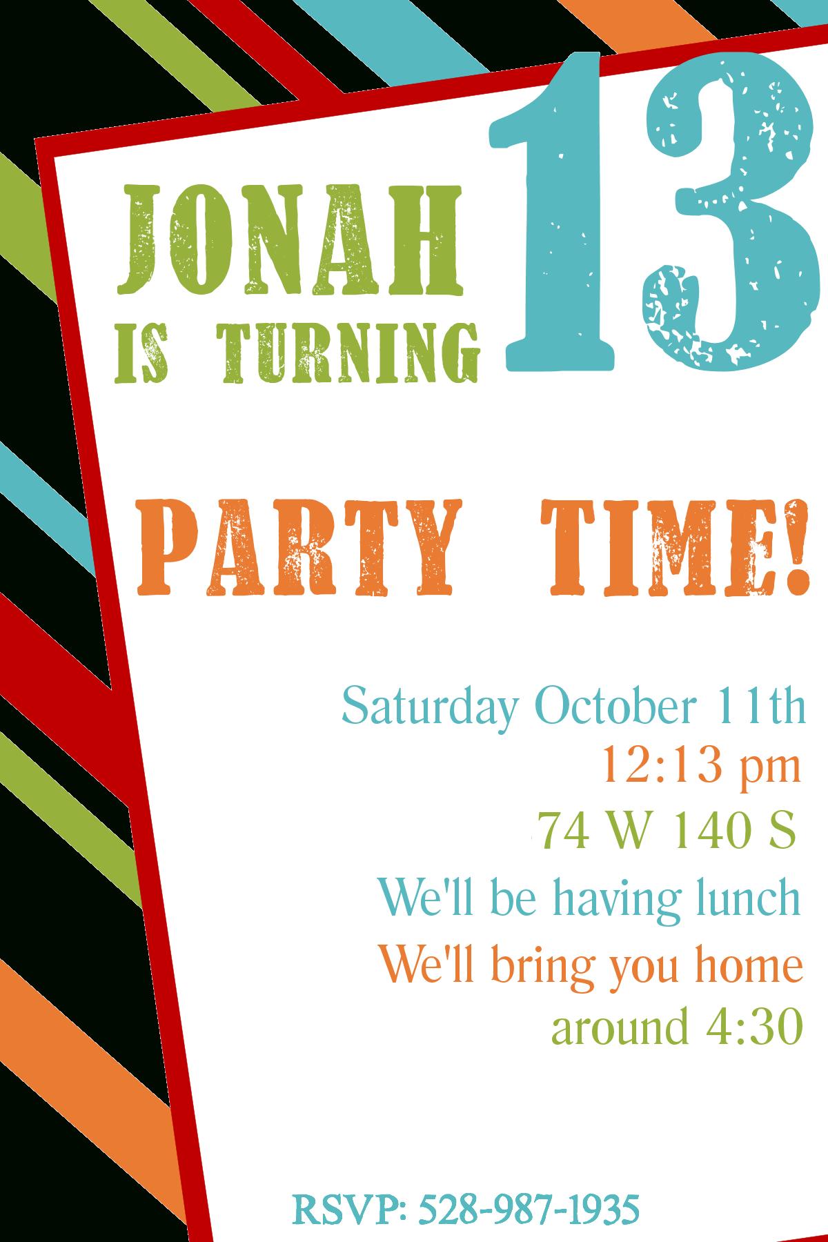 Free Printable Birthday Invitation Templates | Printables | Free - 13Th Birthday Party Invitations Printable Free