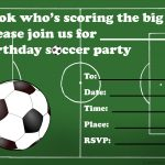Free Printable Birthday Party Invitations For Kids: High Resolution   Free Printable Soccer Birthday Invitations