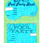 Free Printable Birthday Pool Party Invitations — Birthday Invitation   Free Printable Pool Party Invitation Cards