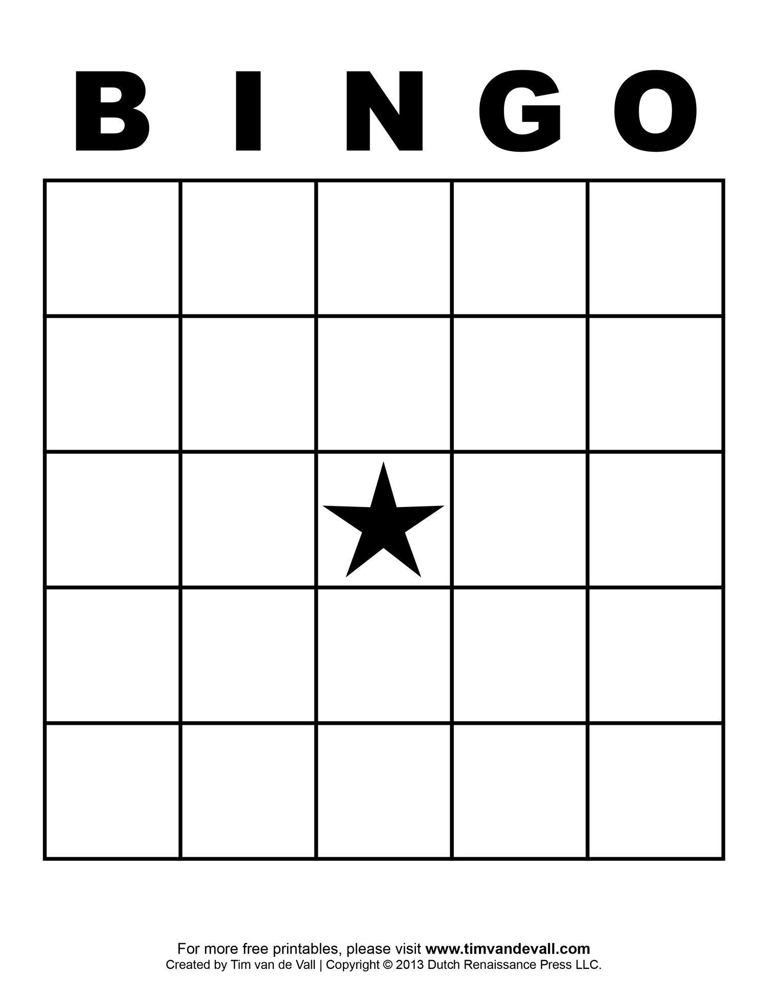 Free Printable Blank Bingo Cards Template 4 X 4   Classroom   Blank - Free Printable Bingo Cards For Large Groups