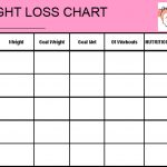 Free Printable Blank Weight Loss Chart Template Download | Lea Bday   Free Printable Weight Loss Chart