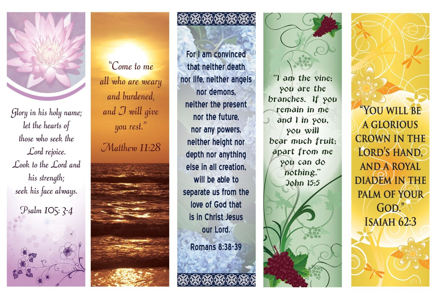 Free Printable Bookmarks With Bible Verses | Bookmarks | Printable - Free Printable Bookmarks With Bible Verses
