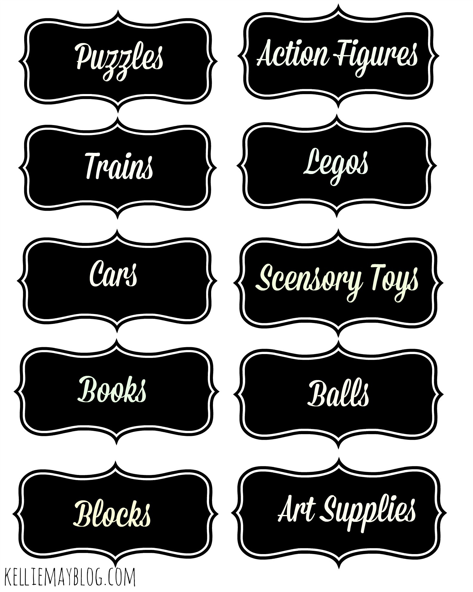 Free Printable Boy's Toy Bin Labels. 20 Different Labels To Choose - Free Printable Book Bin Labels