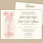 Free Printable Bridal Shower Invitations | Wedding Invitations   Free Mason Jar Wedding Invitation Printable Templates