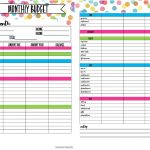 Free Printable Budget Planning Worksheets   Free Printable Budget Worksheets