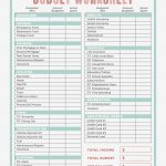 Free Printable Budget Worksheets Dave Ramsey Unique Bud Worksheet   Free Printable Budget Worksheets