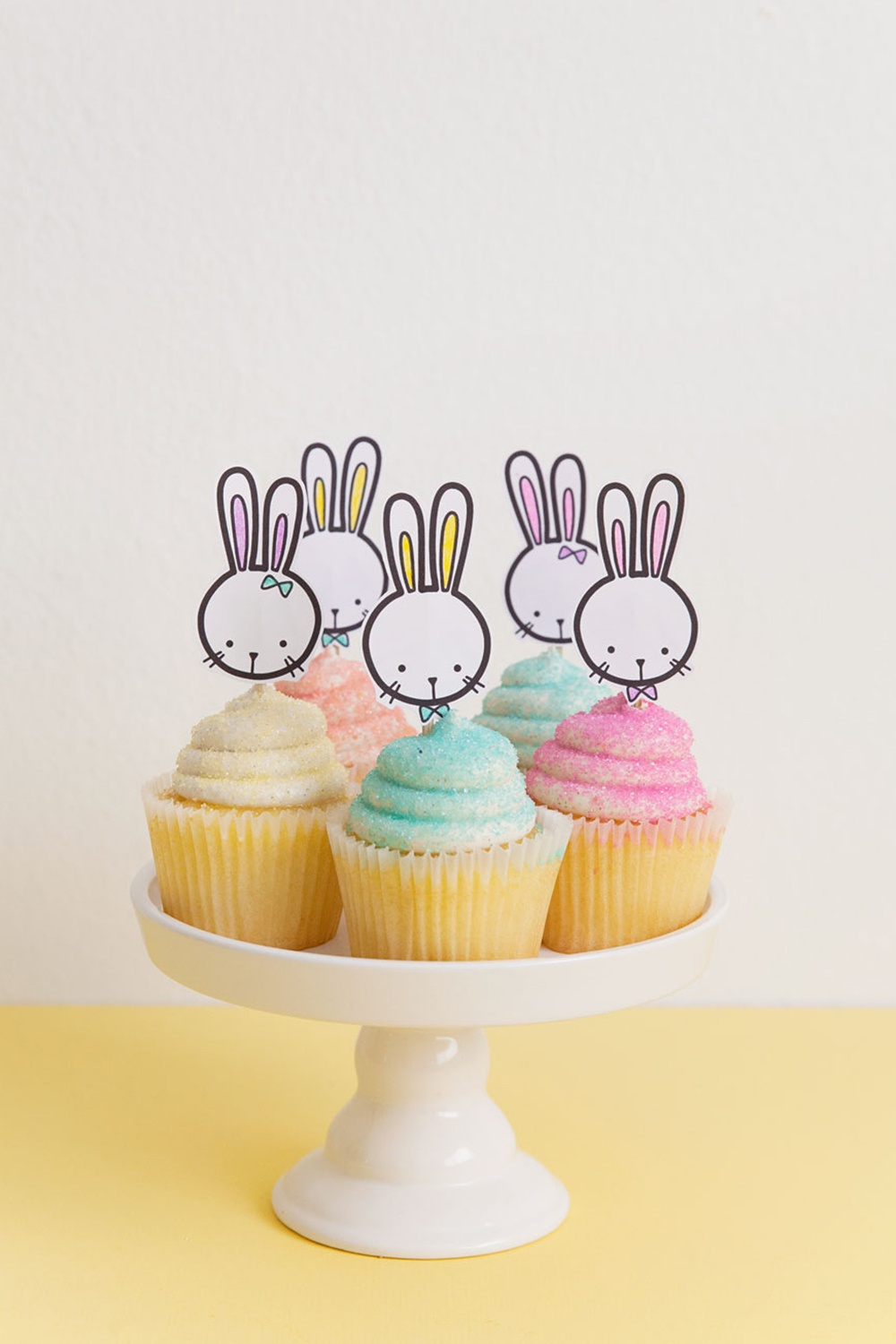 Free Printable Bunny Cupcake Topper - Tell Love And Party - Free Printable Cupcake Toppers