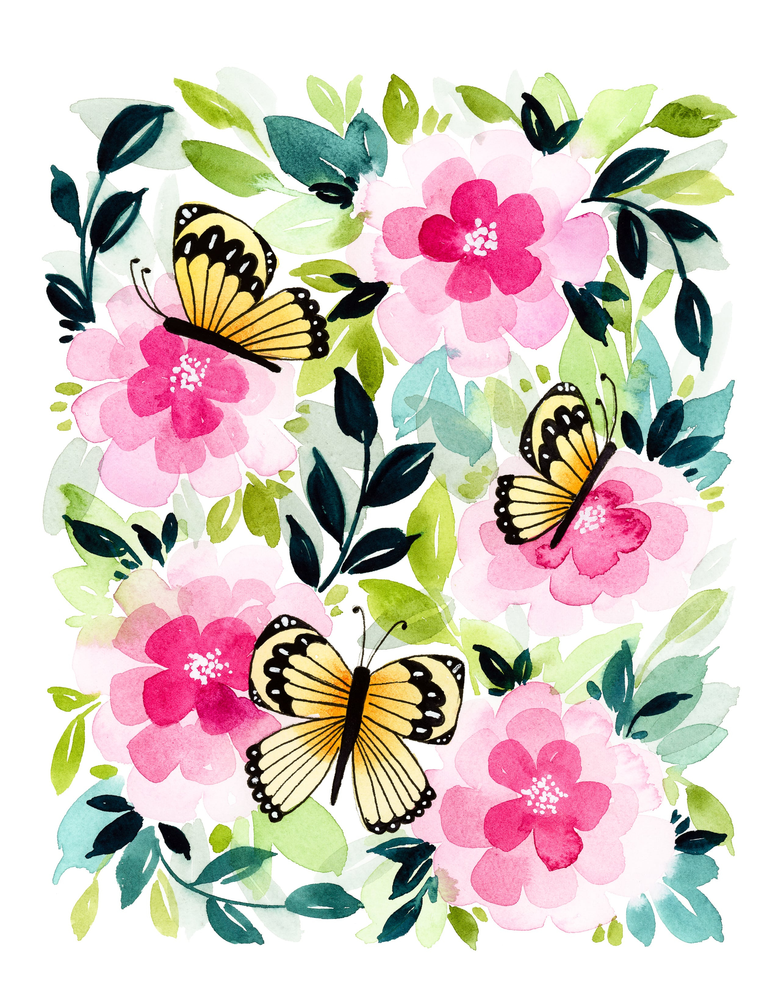 Free-Printable-Butterfly-Garden-Card-1 - Tinselbox - Free Printable Butterfly Pictures