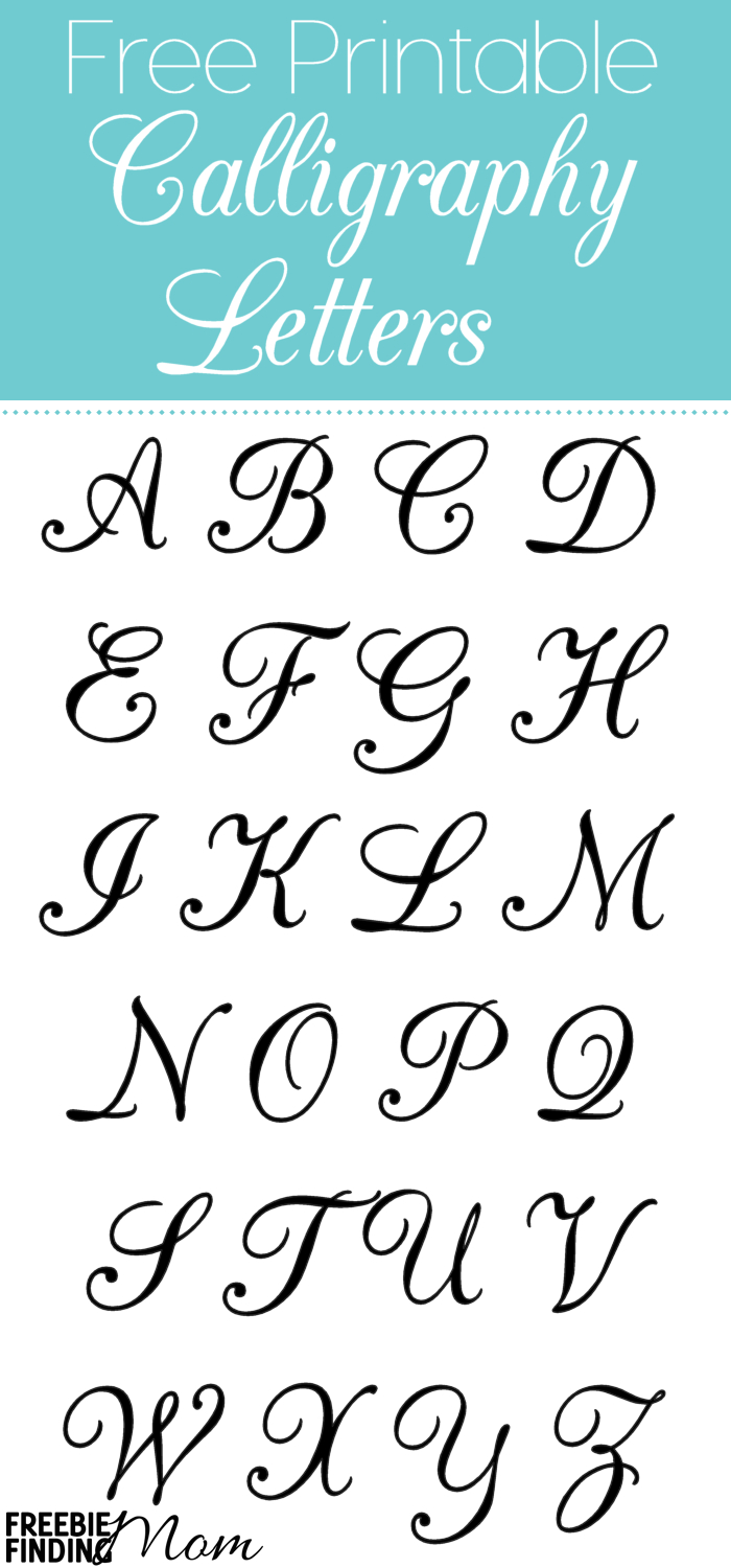 Free Printable Calligraphy Letters | Calligraphy | Alphabet Stencils - Free Printable Fonts Stencils