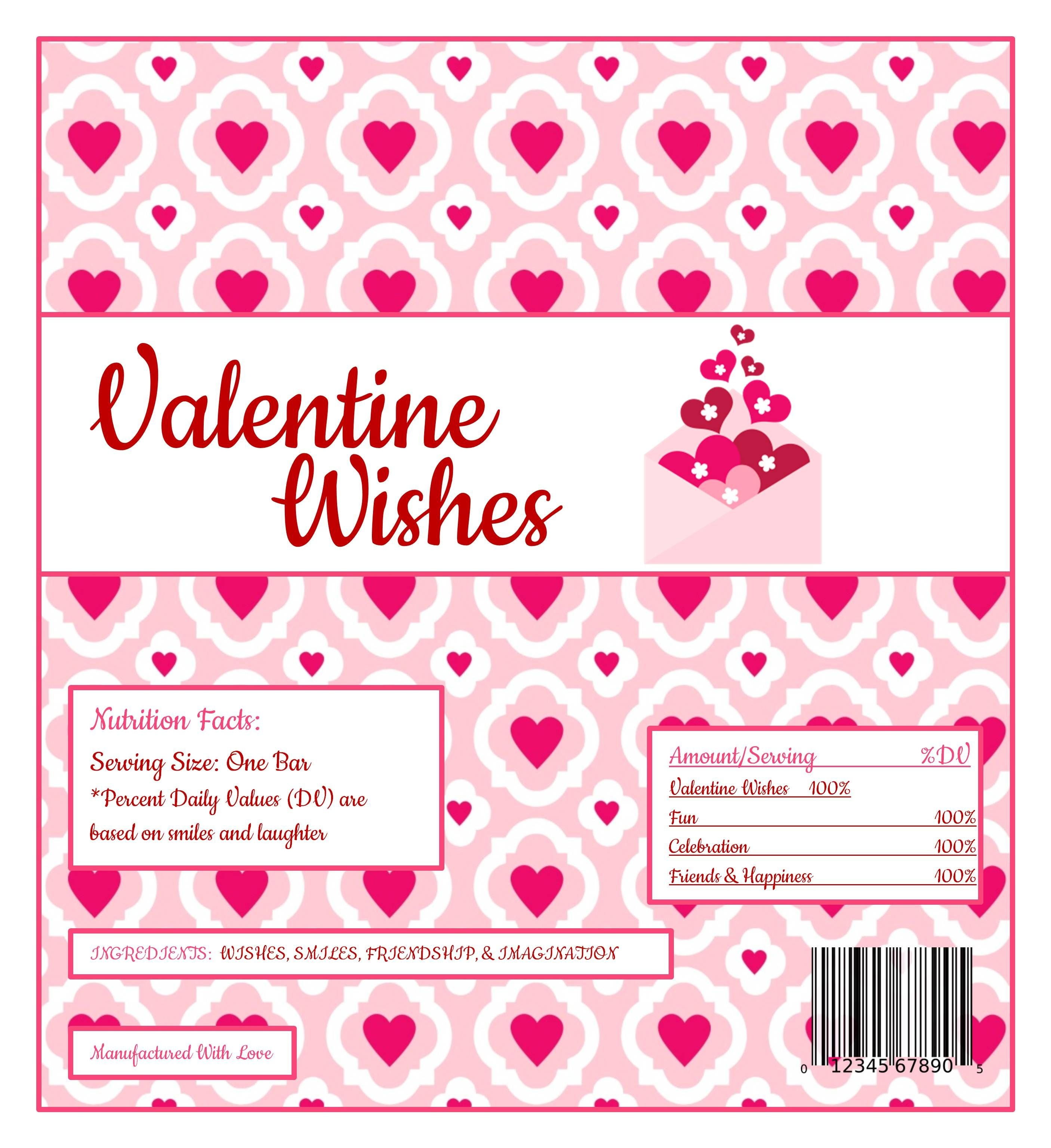 Free Printable Candy Wrapper | Valentines Day Parties & Ideas - Free Printable Hershey Bar Wrappers