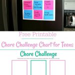 Free Printable Chore Chart For Teens | Best Of Life. Family. Joy   Free Printable Teenage Chore Chart
