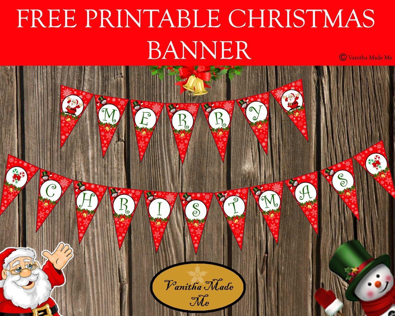 Free Printable Christmas Banner | Kreatívságok - Free Printable Christmas Banner