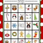 Free Printable Christmas Bingo Game   Christmas   Christmas Bingo   Free Printable Christmas Bingo