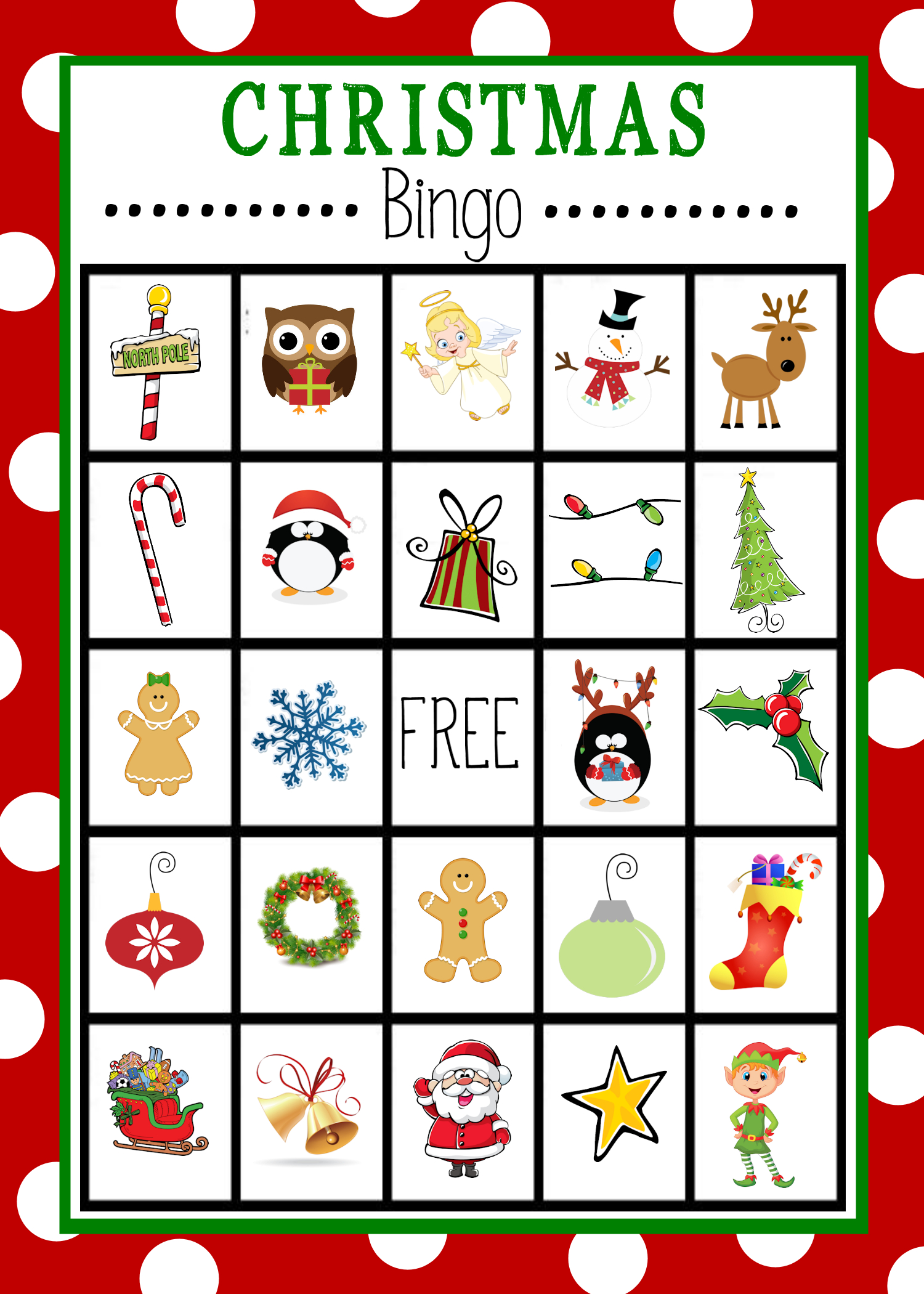 Free Printable Christmas Bingo Game | Christmas | Christmas Bingo - Free Printable Christmas Bingo Cards