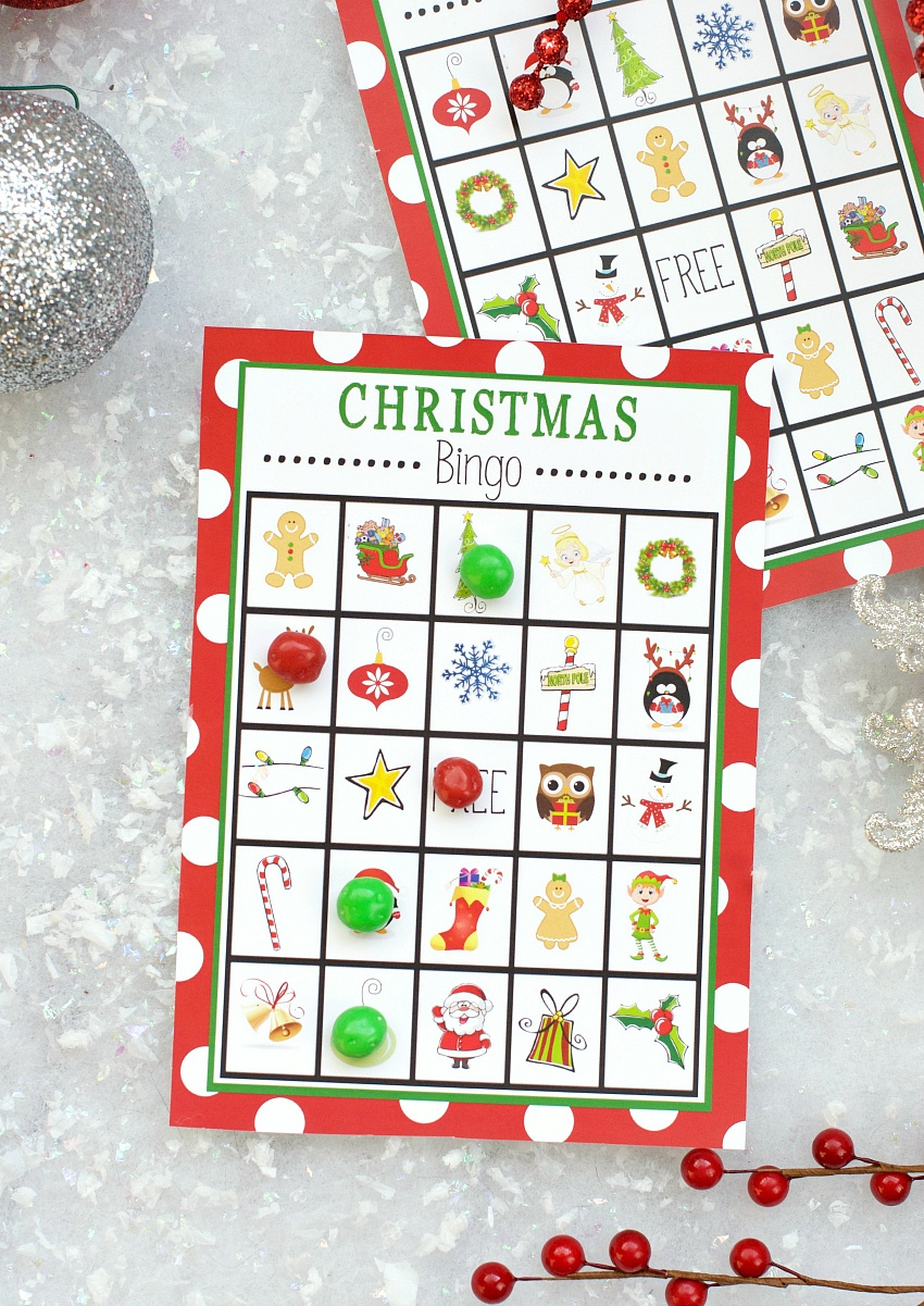 Free Printable Christmas Bingo Game – Fun-Squared - Free Printable Christmas Bingo