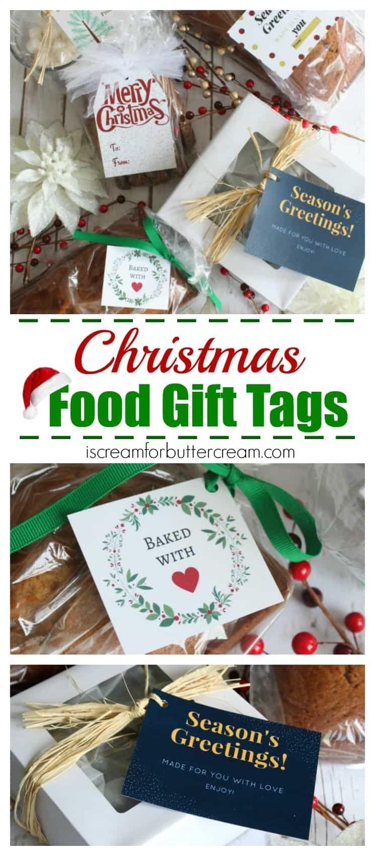 Free Printable Christmas Food Gift Tags | Christmas - Misc - Free Printable Christmas Food Labels