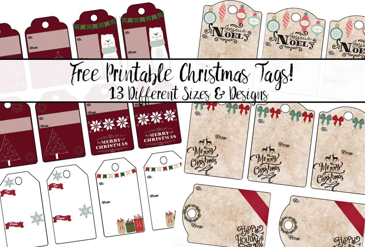 Free Printable Christmas Gift Tags: 13 Designs. Just Print And Use! - Free Printable Christmas Designs