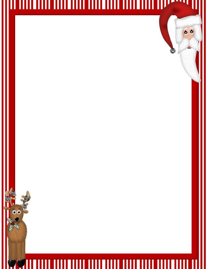Free Printable Christmas Stationary Borders | Christmasstationery - Free Printable Christmas Border Paper