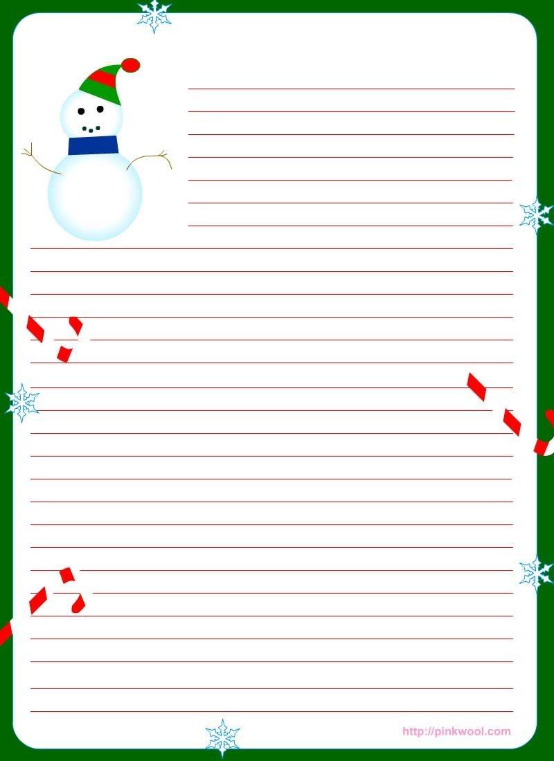 Free Printable Christmas Stationary | Stationary | Christmas 2019 - Free Printable Christmas Writing Paper With Lines