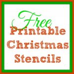 Free Printable Christmas Stencils – Christmas Tree Templates & Santa   Merry Christmas Stencil Free Printable