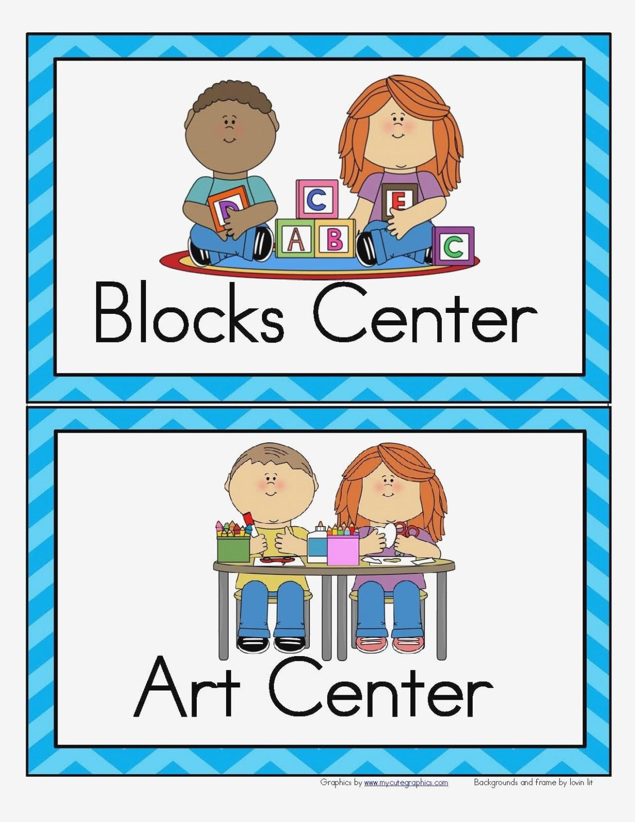 Free Printable Classroom Signs Center Block – Best Home Interior - Free Printable Classroom Labels For Preschoolers