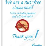 Free Printable Classroom Signs | Signup – Printable Peanut Free Classroom Signs