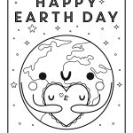 Free Printable Coloring Page: Earth Day | Crate&kids Blog   Free Printable Earth Pictures