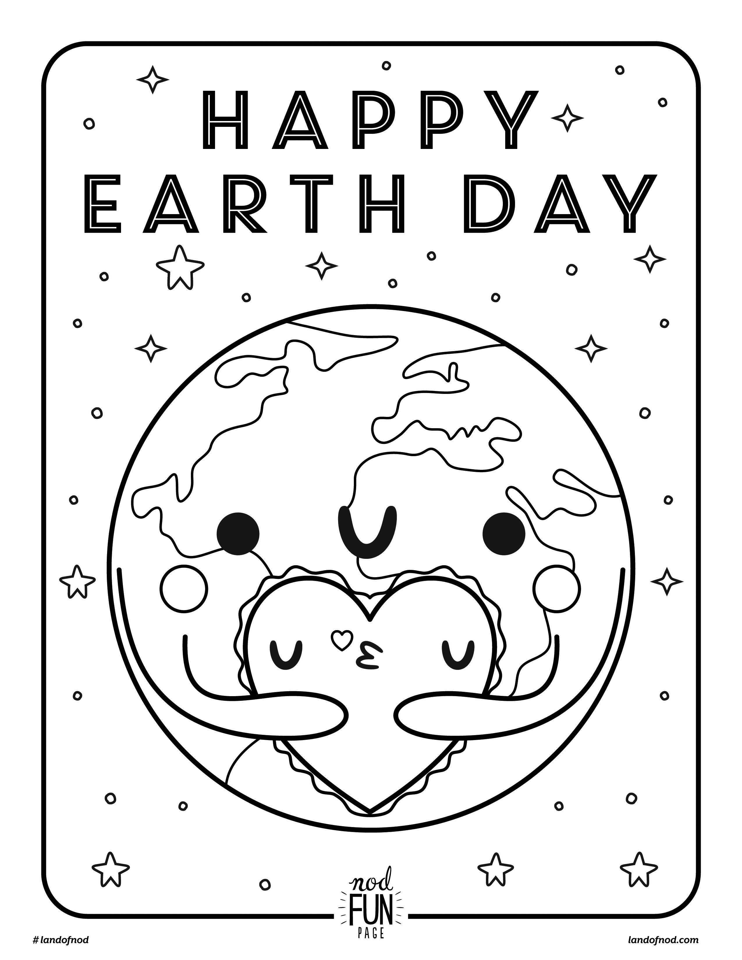 Free Printable Coloring Page: Earth Day | Crate&kids Blog - Free Printable Earth Pictures