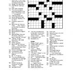 Free Printable Crossword Puzzles For Adults | Puzzles Word Searches   Printable Newspaper Crossword Puzzles For Free