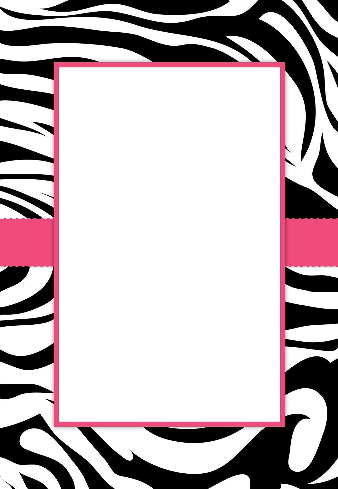 Free #printable Customizable Zebra Stripes #party Invitation   Party - Free Printable Animal Print Birthday Invitations