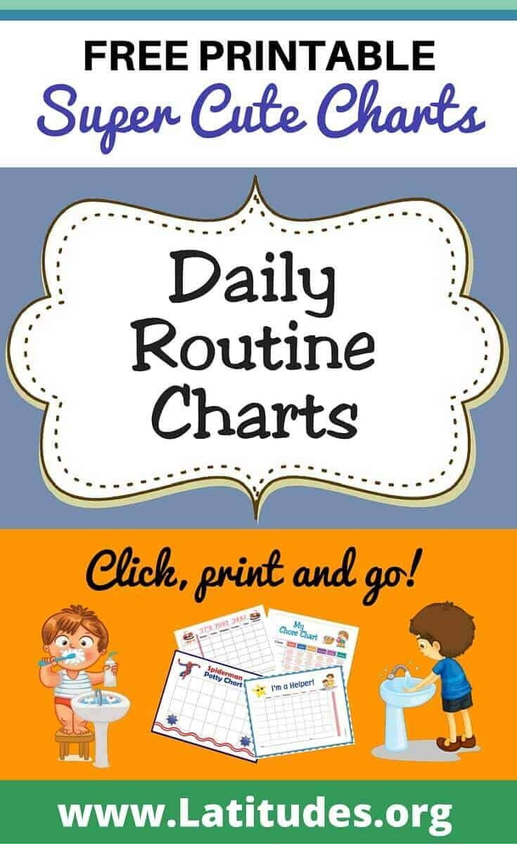 Free Printable Daily Routine Charts For Kids | Acn Latitudes - Children's Routine Charts Free Printable