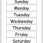 Free Printable Days Of The Week Chart | Classroom Ideas | Learning   Free Printable Days Of The Week